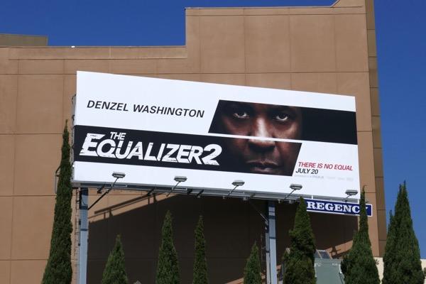 Equalizer 2 movie billboard