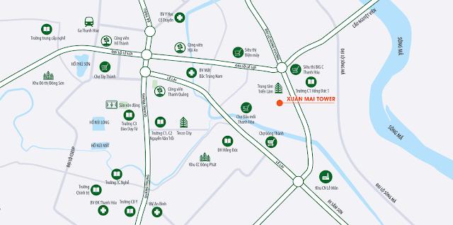 vị trí dự án Xuân Mai Thanh Hóa