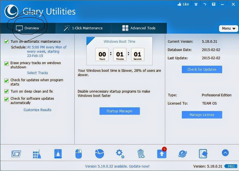 Glary Utilities Pro V5 Multilingual best super faster optimizer