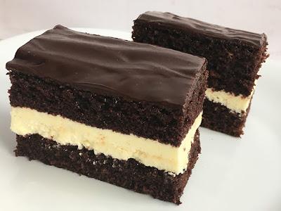 Ciasto czekoladowe z kremem z mleka w proszku