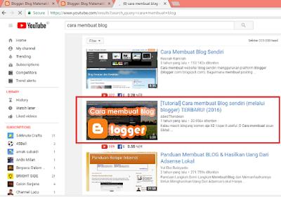 Membuka Halaman Youtube