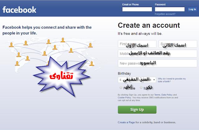 الدليل الشامل للفيسبوك : شرح انشاء حساب جديد فى فيسبوك من الاف الى الياء