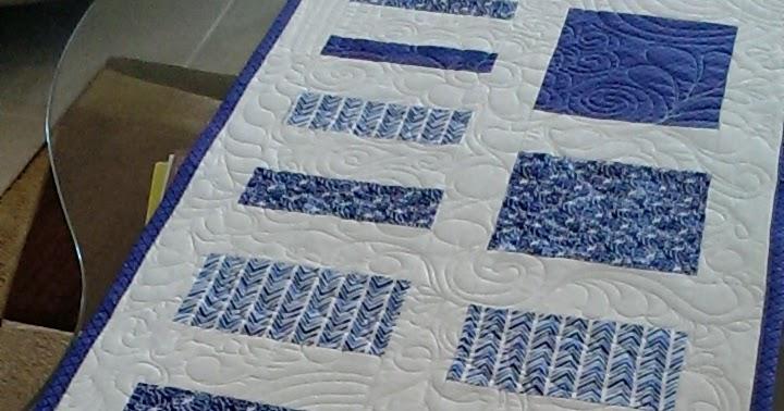 Quilt, Knit, Run, Sew: Its a Blue Binding
