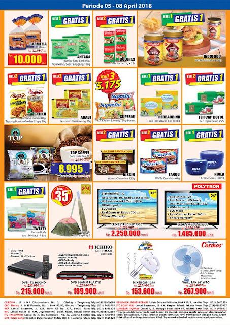 Katalog Harga Promo HARI-HARI Swalayan Akhir Pekan 05 - 08 April 2018