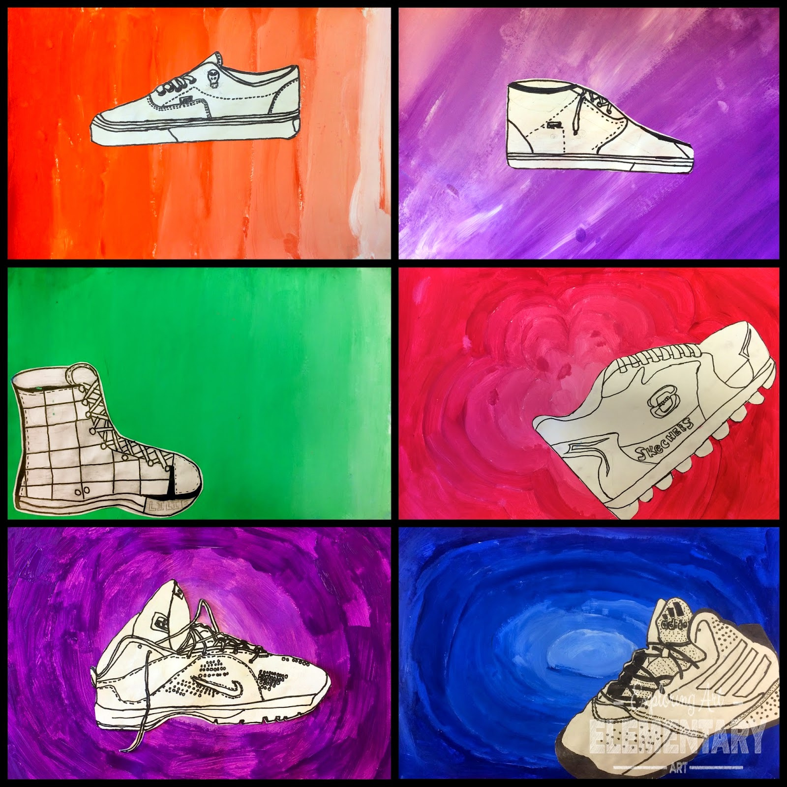 Art Eat Tie Dye Repeat 6th Grade Contour Shoe With