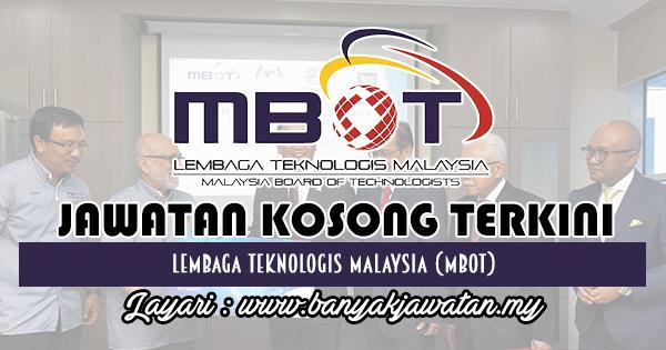 Jawatan Kosong 2018 di Lembaga Teknologis Malaysia (MBOT)