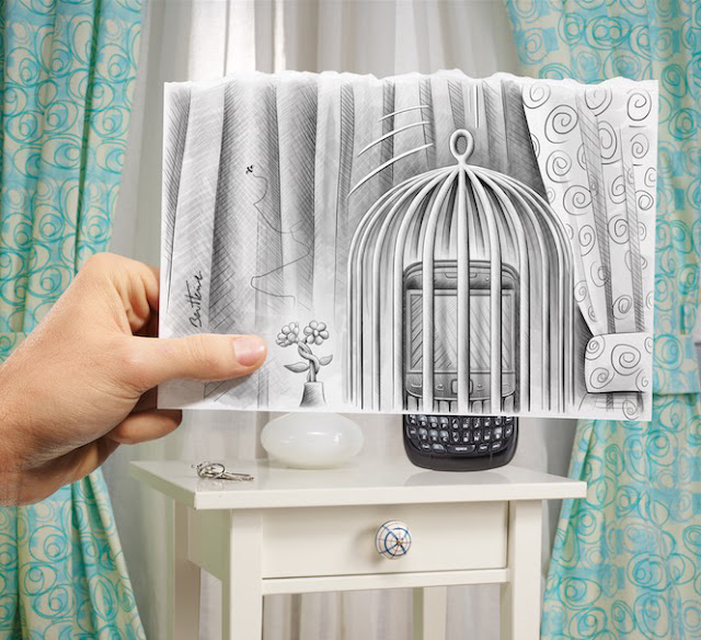 Pencil Vs Camera Art by Ben Heine - Smartphone - Artificial Intelligence
