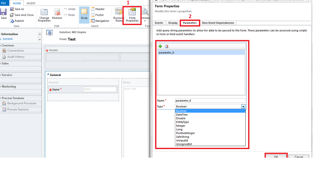 CRM Java Scripts: Pass custom query string parameter in CRM 2013