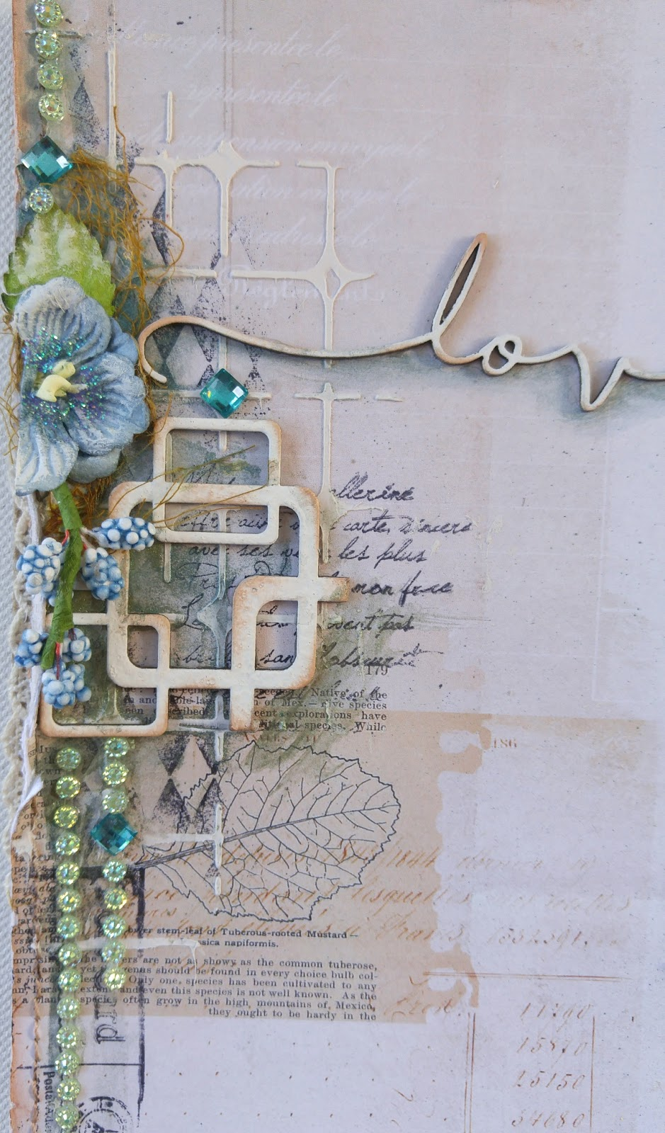 Baby scrapbook ideas uk - Another Little Closeup Of The Accent Area On My Layout I Like To Throw A Little Accent Area In To Balance The Page Design The Little Blue Buds Were Part
