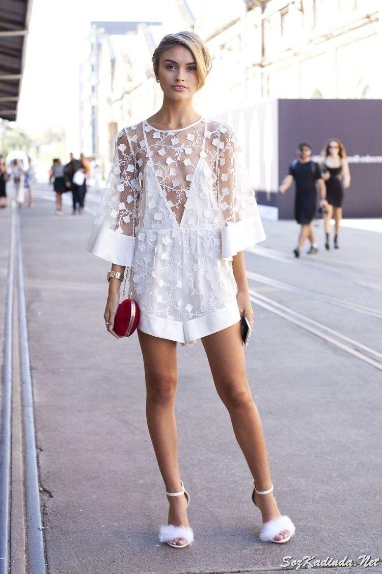 Transparan Dantel Giyim Ürünleri Modası Trend Oldu