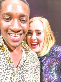 A Nigerian fan got accidentally kissed by singer Adele