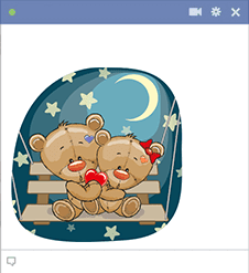 Moonlight Teddy Bears Emoji