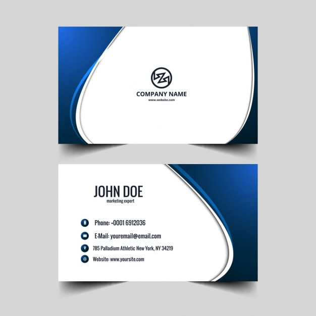 Blue visiting card / Name Card - Free Vector