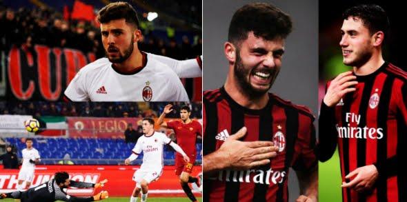 Roma-Milan 0-2: con Cutrone e Calabria (1° gol in carriera) tre punti all'Olimpico