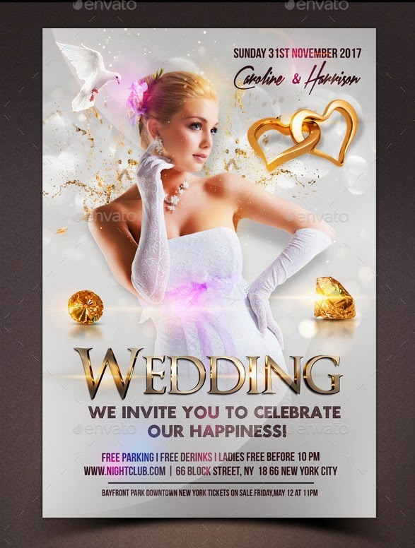 Wedding Event Flyer Template