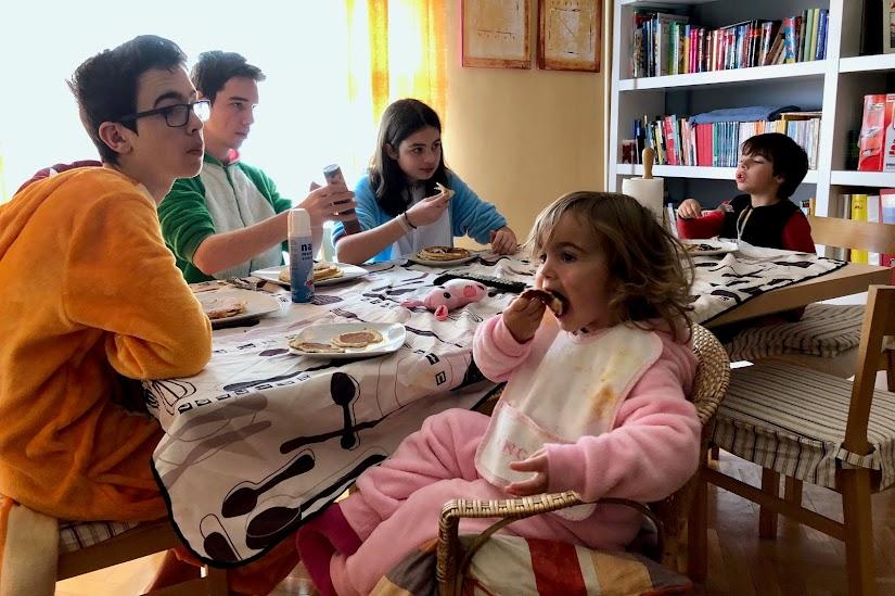 Desayunando en pijama