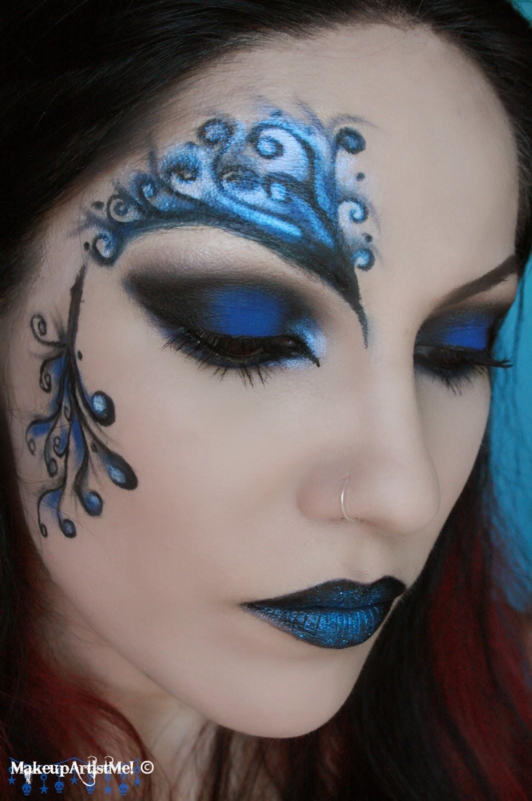 Make-up Artist Me!: Blue Secret- Blue Masquerade Makeup
