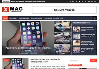 X-Mag Blogger Template