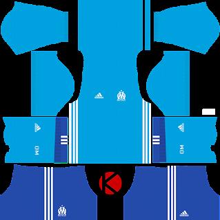 Olympique de Marseille Kits 2017/2018 - Dream League Soccer