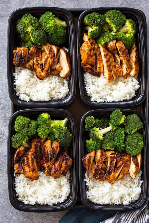 20 MINUTE MEAL-PREP CHICKEN, RICE AND BROCCOLI #20minute #mealprep #chicken #chickenrecipes #rice #broccoli #lunch #lunchrecipes #easylunchrecipes