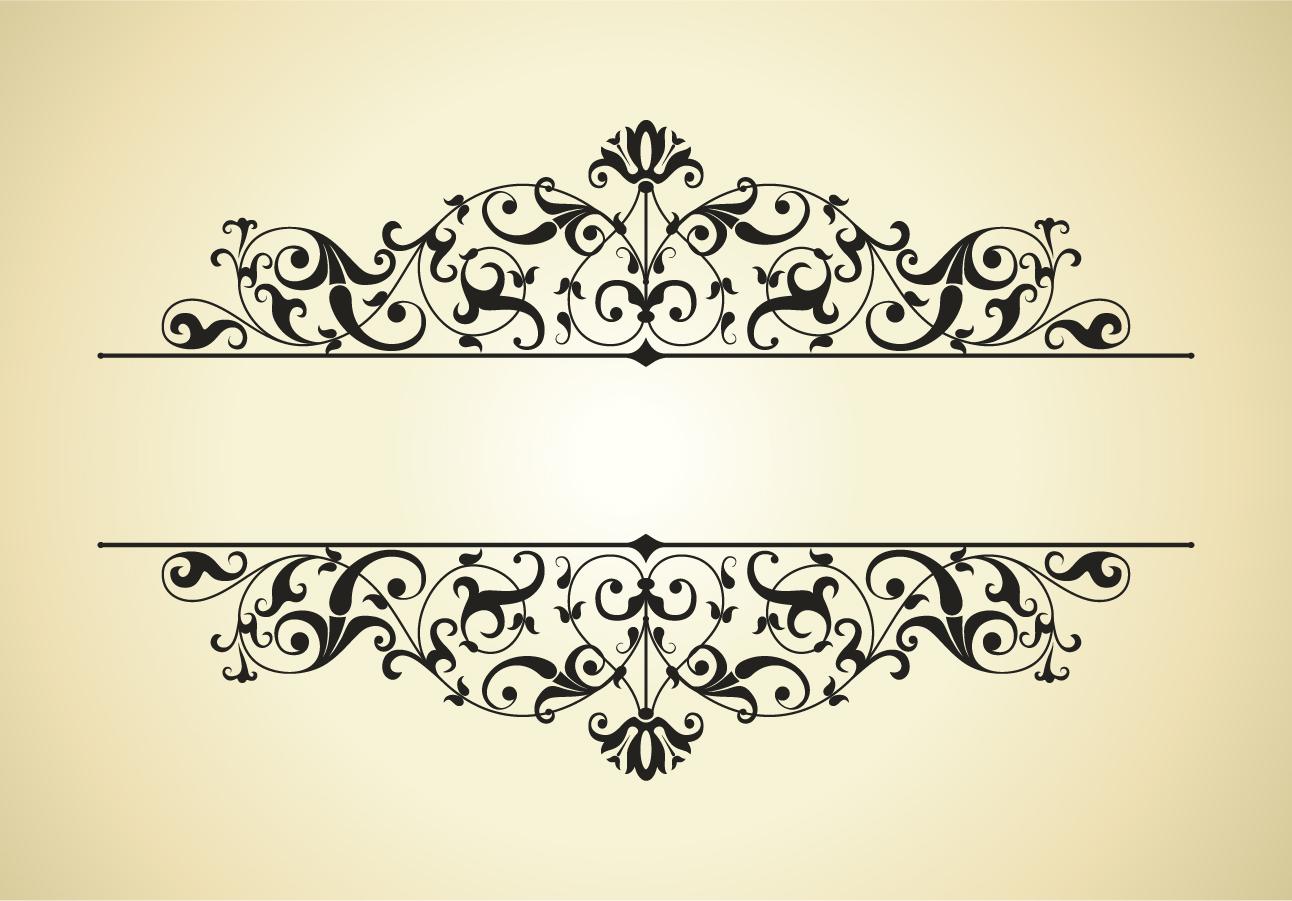 ヴィンテージ ウェディング フレーム Vintage decorative wedding frames イラスト ...