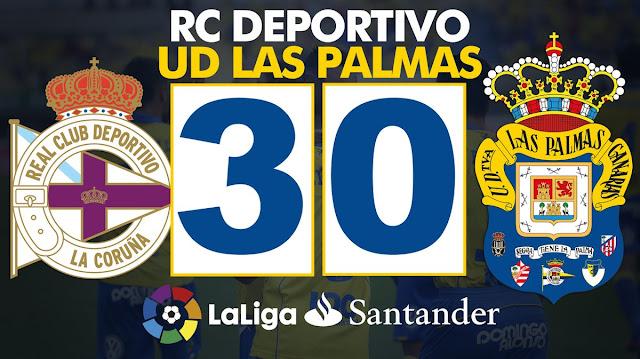 Marcador RCD La Coruña - UD Las Palmas 3-0