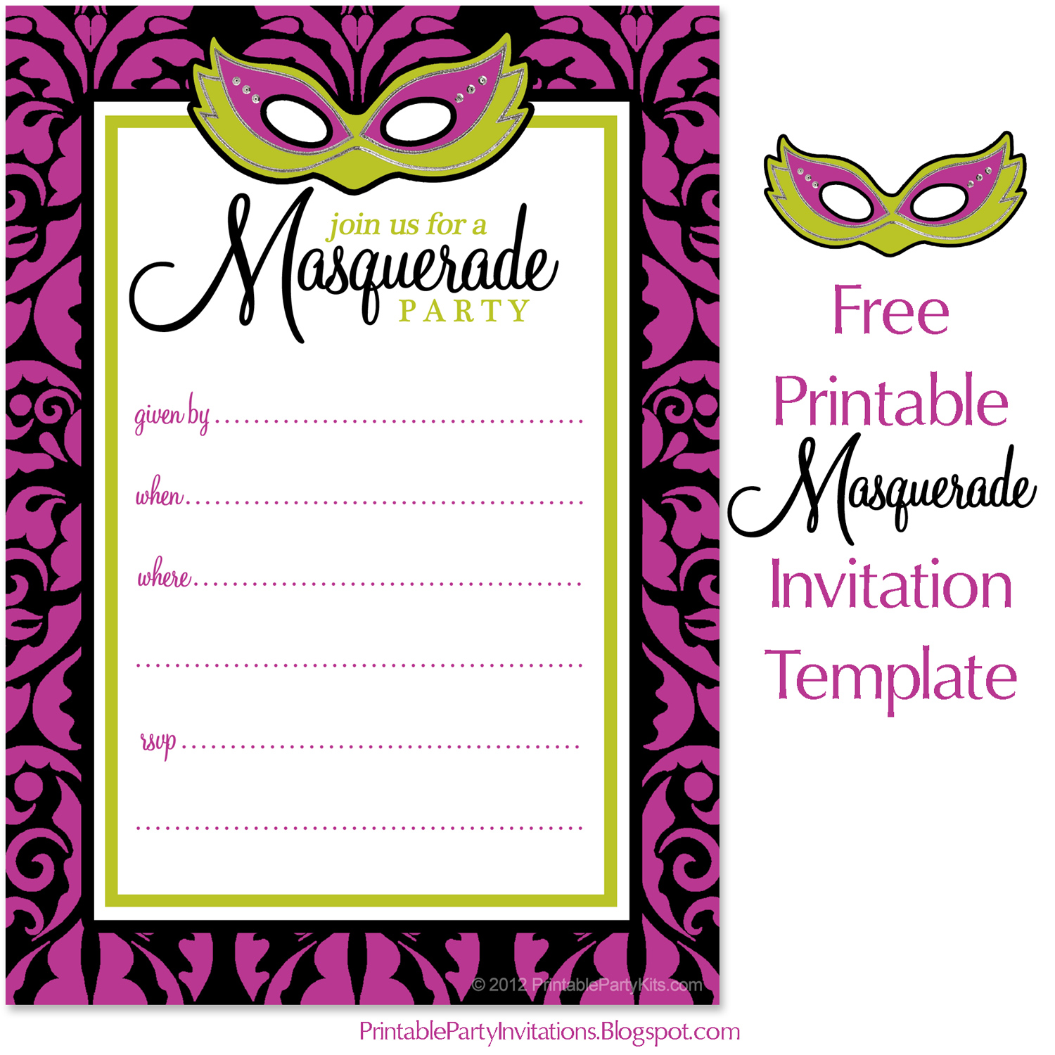 graphic about Free Printable Masquerade Invitations called Cant identify subsution for tag [write-up.entire body]--\u003e Masquerade or