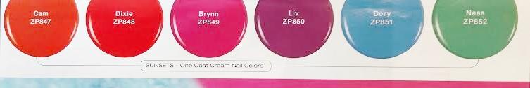Zoya seashells and sunset summer collection 2016 creams