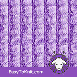 Knit Purl 35: Ladder | Easy to knit #knittingstitches #knitpurl