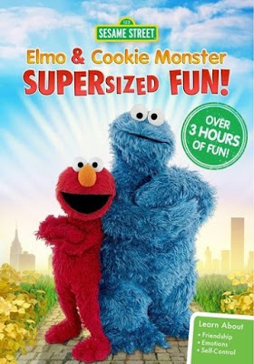 Sesame Street: Elmo and Cookie Monster Supersized Fun! 2016 DVD R1 NTSC Sub