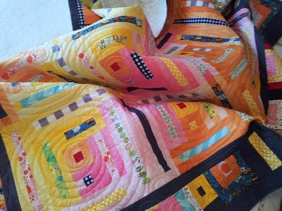 I quilted Kim's Quilt that is going to the International Quilt Festival in Houston TX
