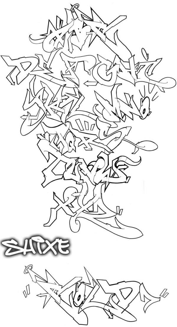 New Graffiti Art Graffti New Alphabet Style With Flow