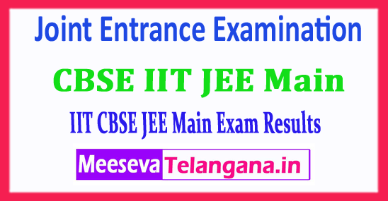 IIT JEE Main Result Central Board Joint Entrance Examination IIT JEE Main 2018 Result