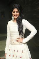 Megha Akash in beautiful White Anarkali Dress at Pre release function of Movie LIE ~ Celebrities Galleries 038.JPG