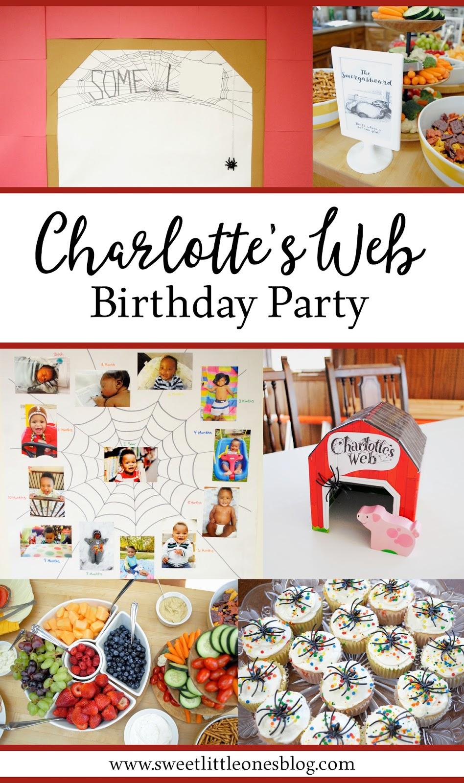 Charlotteu0027s Web 1st Birthday Party