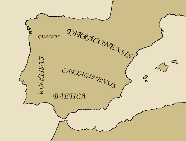 Regions of the Iberian Peninsula during the Visigoth Kingdom
