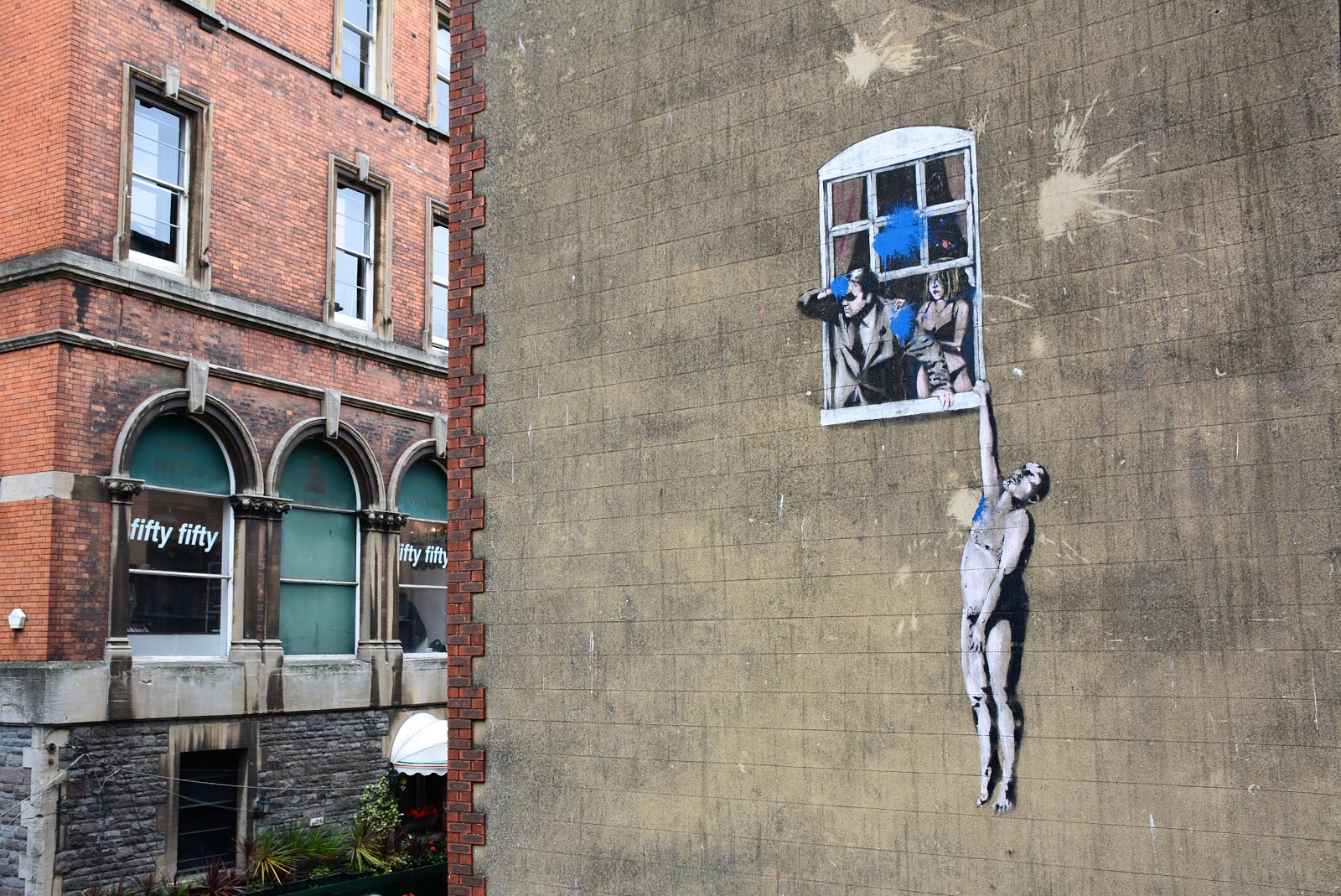 """Well Hung Lover"" by Banksy"