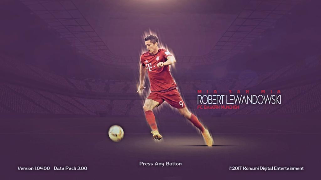 PES 2018 / PES 2017 Lewandowski [Bayern] Start Screen by affan7x