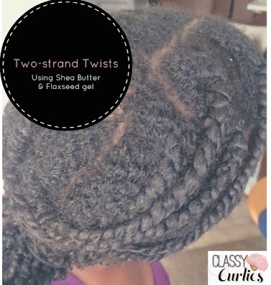 twists on natural hair