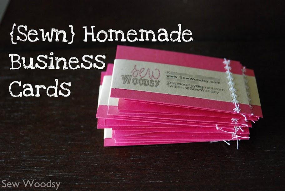 Sewn Homemade Business Cards Cfl Blog Con Recap