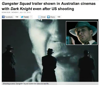 GANGSTER SQUAD - cinema massacre trailer screens in Australia