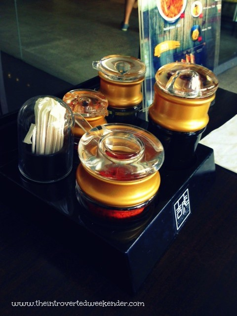 Condiments at Kichitora of Tokyo