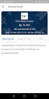 voucher booking tiket bioskop via tix id senilai 10 ribu