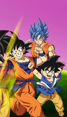 Dragon Ball Z Goku Super Saiyan 3 - Fond d'Écran en QHD pour Mobile