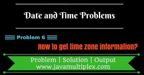 Java program that finds timezone information.