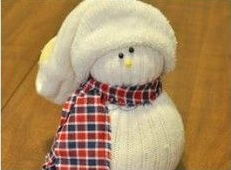 How To Make Snowman From Socks