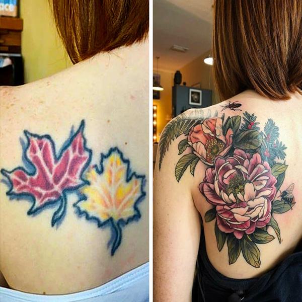 20+ tatuagens que receberam uma segunda chance e não perderam