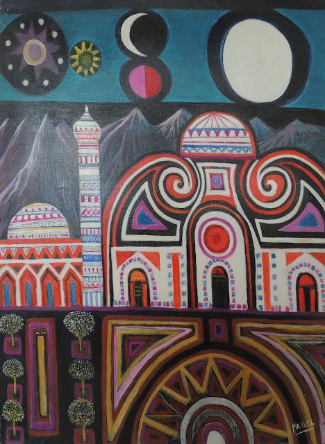 Manuel Carmona pintura naíf oriente