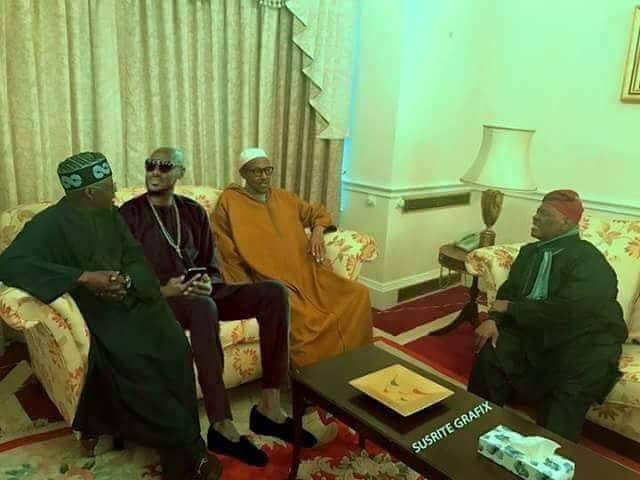 "2face Idibia ""visits"" Buhari in London"