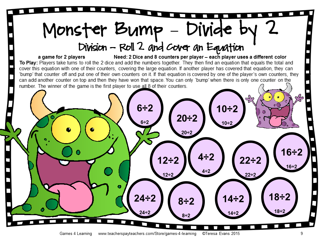 Fun Games 4 Learning Monster Math Games Makeover